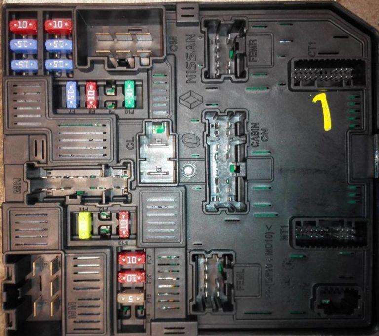 Блок предохранителей под капотом Кашкая J11