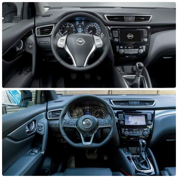 Nissan Qashqai J11 салон до и после обновления