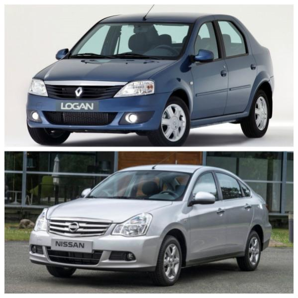 Renault Logan и Nissan Almera G15