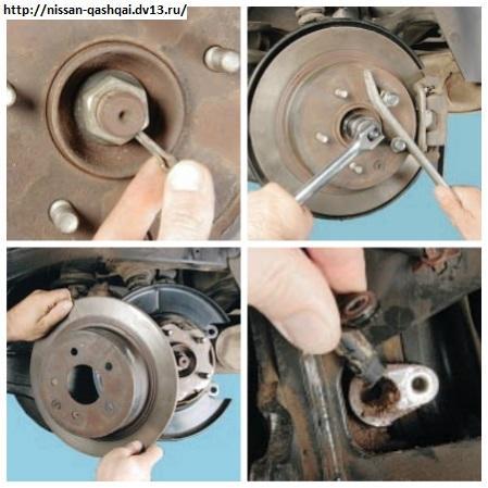 Замена ступицы задних колес