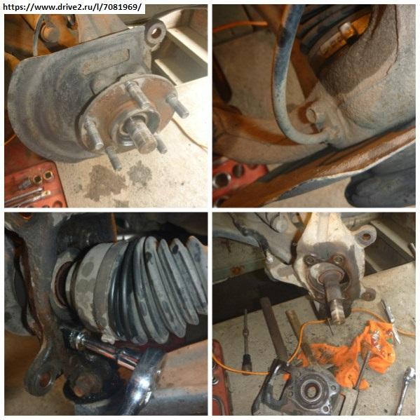 Замена ступицы заднего колеса