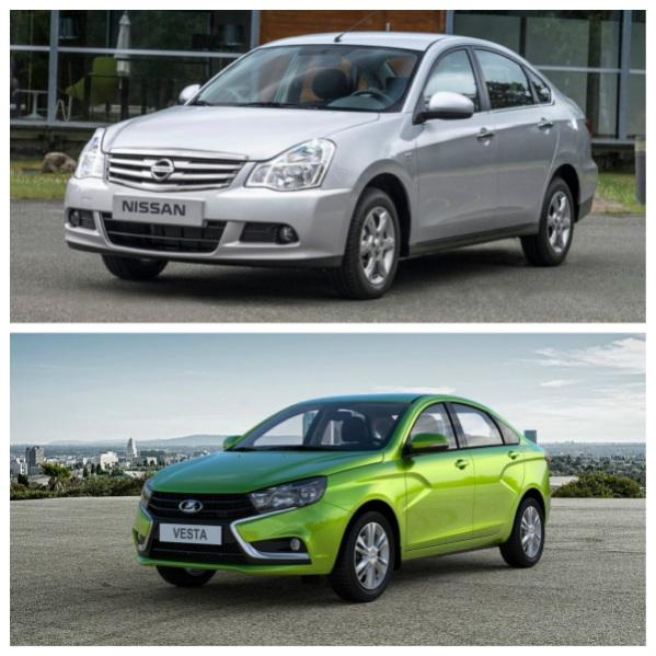 Nissan Almera и Lada Vesta