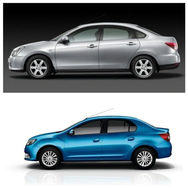 Nissan Almera G15 и Renault Logan L8