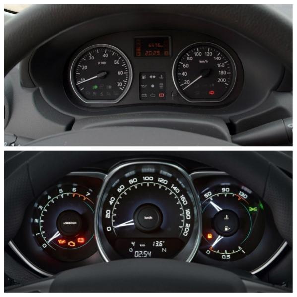 Приборные панели Nissan Almera и Lada Vesta