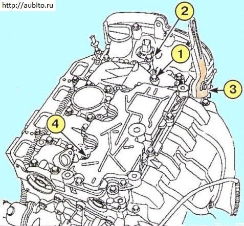 Демонтируем головку блока цилиндров К4М