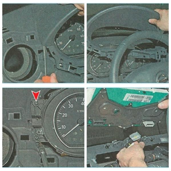 Демонтируем панель приборов