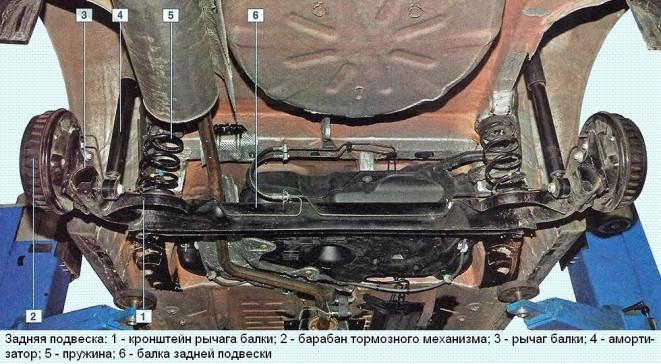 Задняя подвеска Альмера G15