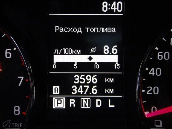 Данные по расходу топлива Nissan X-Trail