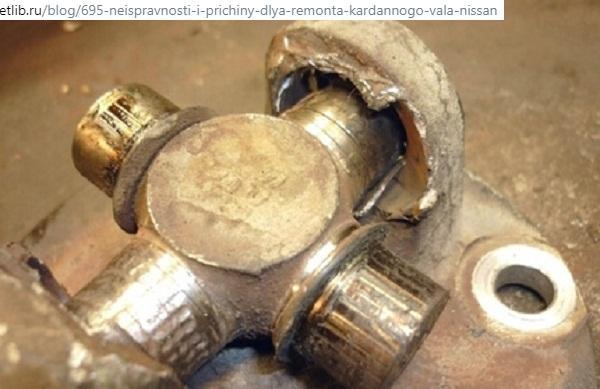 Фланец, разбитый крестовиной карданного вала