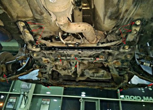 описание замены сцепления Х-Трейл т31