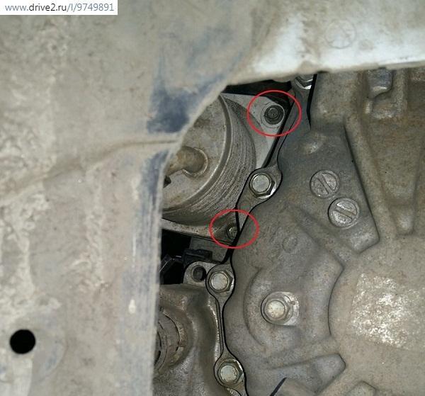 Смена фильтра в маслоохладителе CVT Nissan X-Trail t31