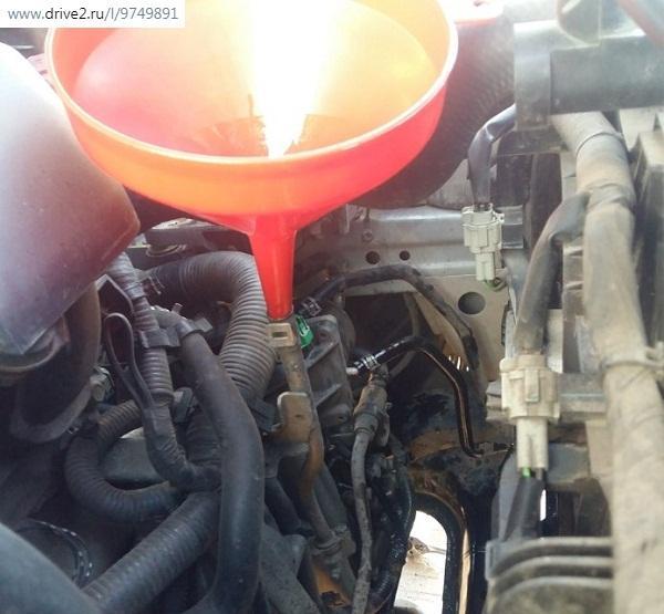 Заливка нового масла в вариатор Х-Трейл т31