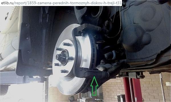 замена тормозных дисков Nissan X-Trail Т31