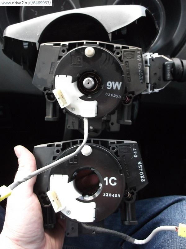демонтаж подрулевого шлейфа NissanX-Trailt31