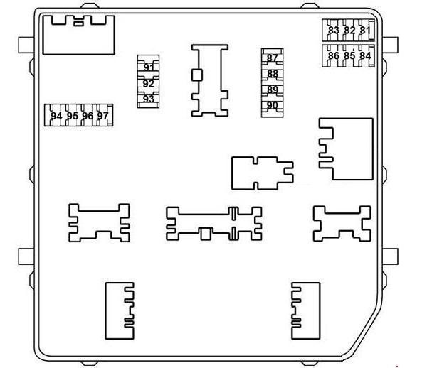 Схема третьего блока моторного отсека X-Trail t32