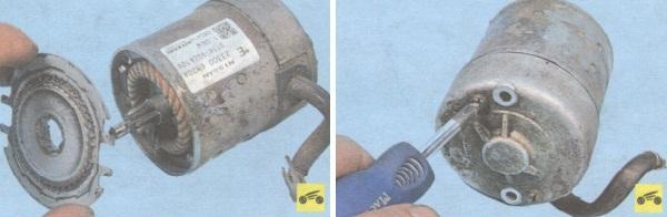 Проверка ротора и замена щеток