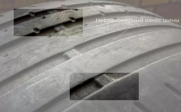 Неравномерный износ автомобильных покрышек Ниссан Икстрейл т31