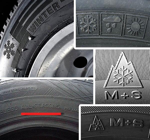 маркировка сезонности покрышек Nissan X-Trail