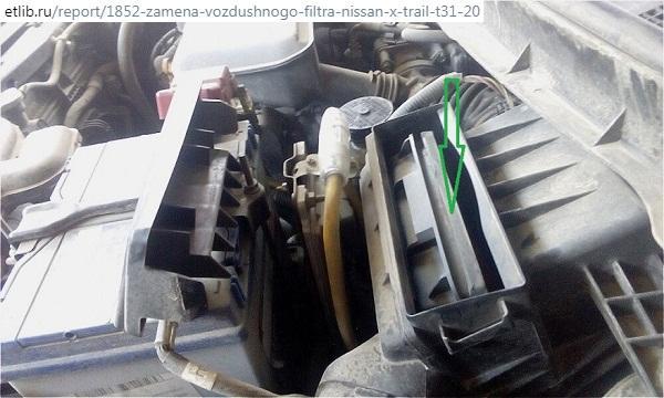 Замена воздушного фильтра X-Trail T31