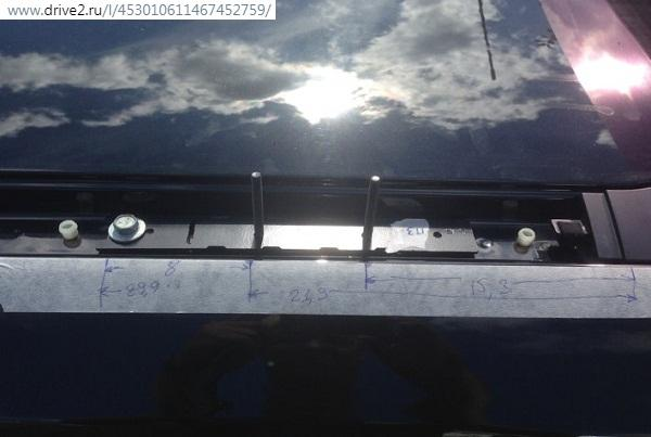 монтаж рейлингов на крышу на Х-Трейл