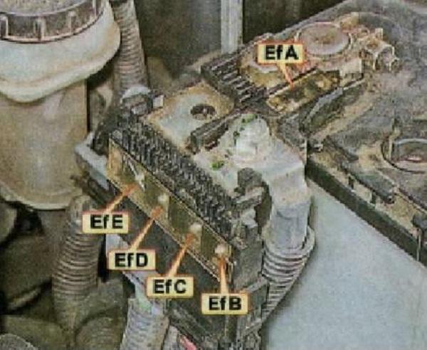 Схема предохранителей на плюсовой клемме аккумулятора