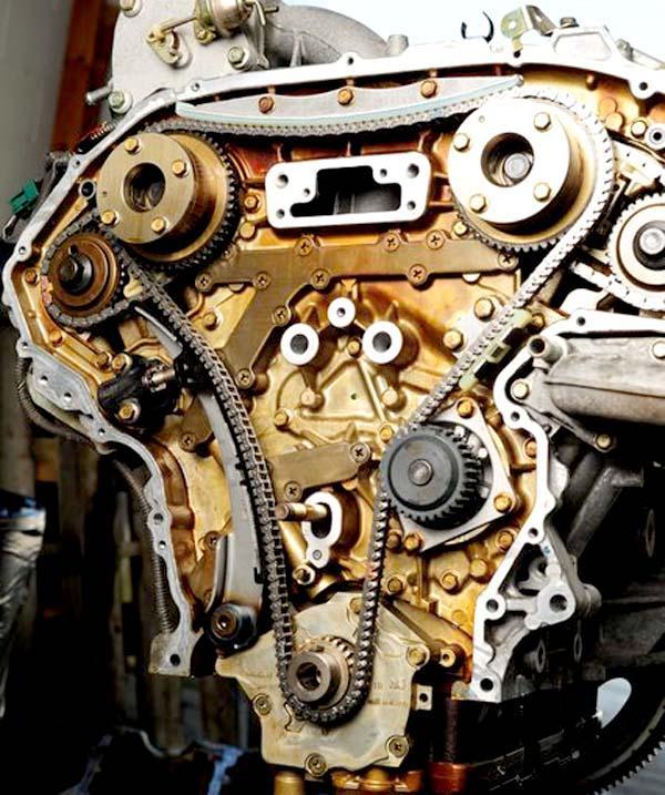 Цепной привод ГРМ двигателя VQ35DE