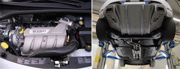 Тюнинг впуска (слева) и выпуска (справа) двигателя F4R