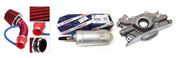 Впуск Apexi с 76-миллиметровой трубой; насос Bosch-044; маслонасос Tomei