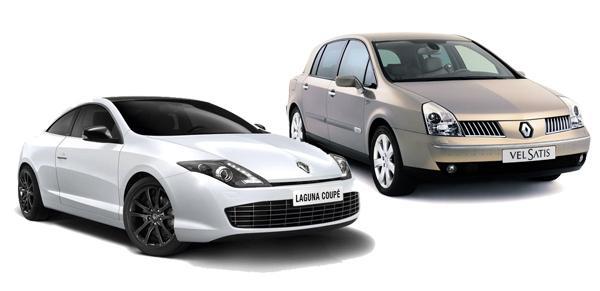 Laguna Coupe (слева) и Vel Satis 1 (справа).