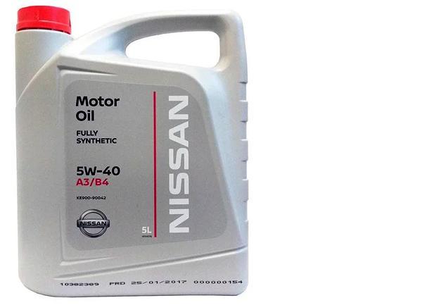 Масло Nissan 5W-40 арт. ke900-90042