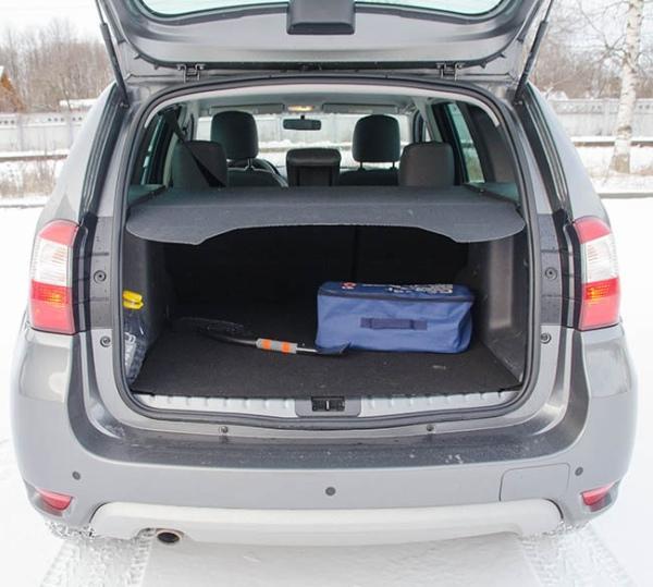 Объем багажника Nissan Terrano