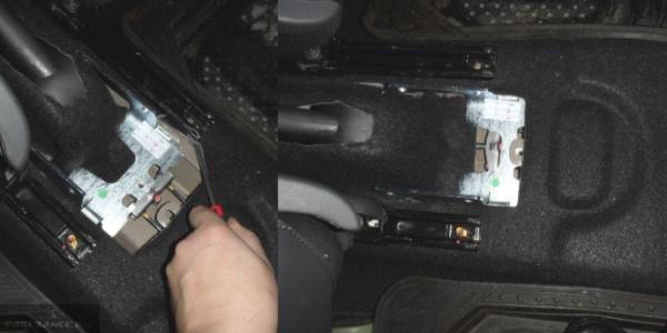 Устанавливаем оригинальный подлокотник на Nissan Terrano