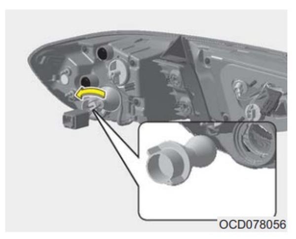 Меняем лампочки в задней оптики на Kia Ceed III