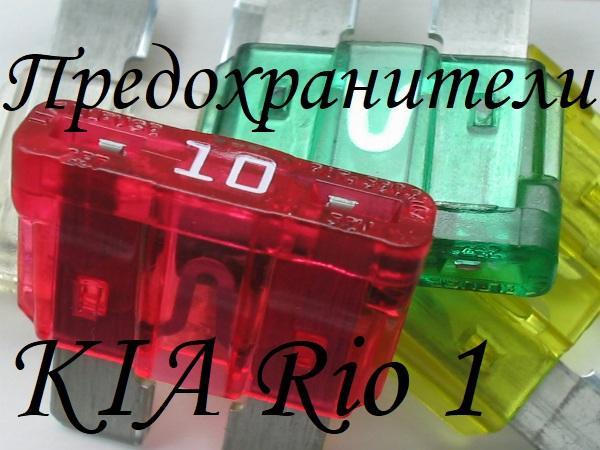 Предохранители Киа Рио 1
