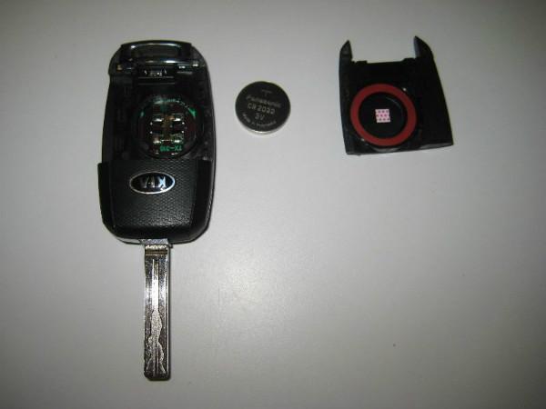 замена батарейки ключ киа сид сд