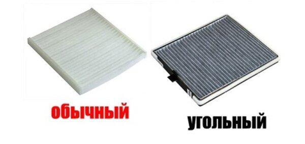 пылевые и угольные салонные фильтры