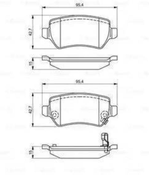 Размеры колодок Kia Ceed 2