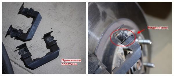 Замена тормозных дисков на Sorento