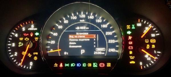 Значение индикаторов приборной панели Sorento 2