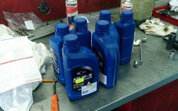 Замена трансмиссионного масла в АКПП